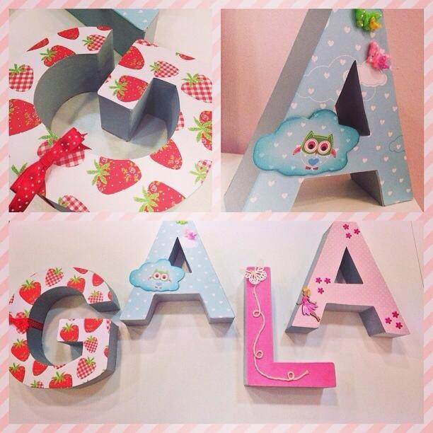 Decoracion Letras Carton ~   and crafts santa coloma scrapbooking barcelona letras gala 300×300