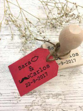 sello boda personalizado