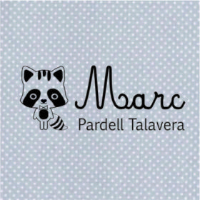 sello textil marcar ropa personalizado modelo mapache