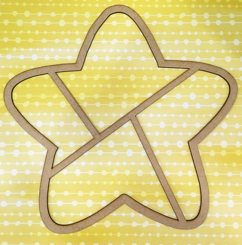 Marco de madera estrella - Cute & Crafts