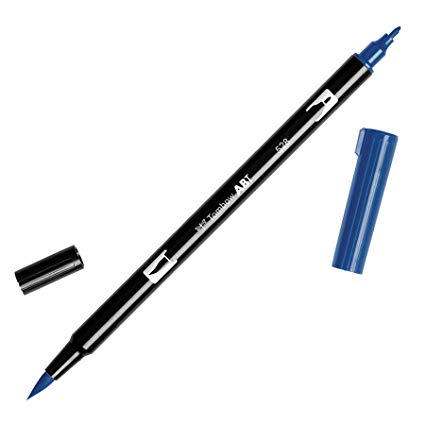 Rotulador ABT Dual Brush 528 Navy Blue Tombow