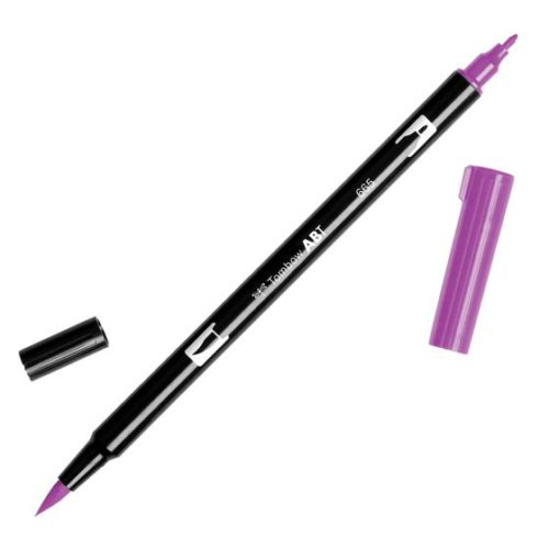 Rotulador ABT Dual Brush 665 Purple Tombow
