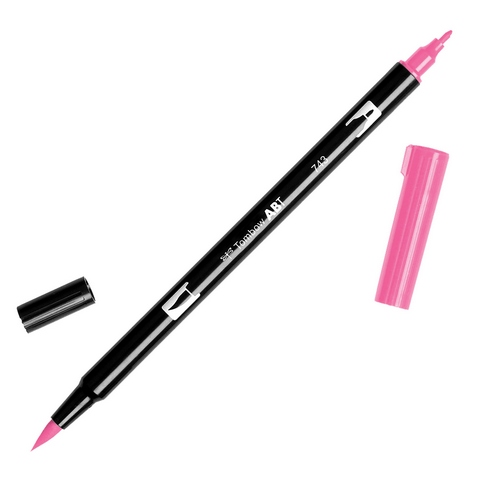 Rotulador ABT Dual Brush 743 Hot Pink Tombow