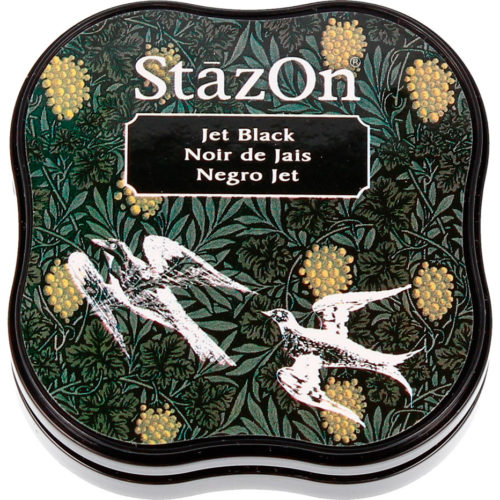 Stazon midi jet black tinta permanente