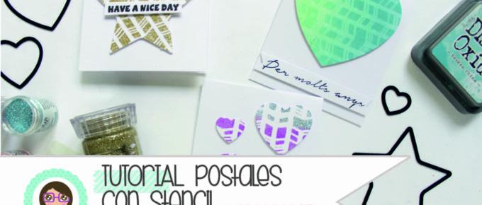 Tutorial Scrapbooking: Creamos postales con stencils, pasta de textura tintas y troqueles