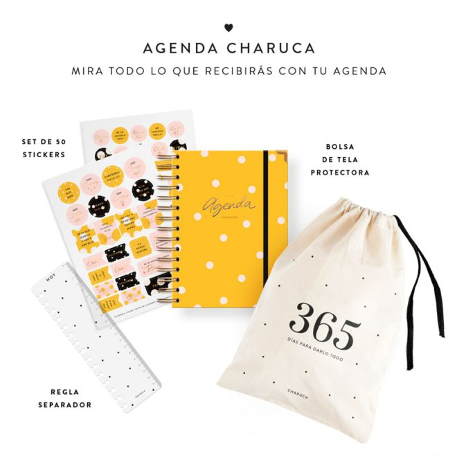 agenda 18-19 semanal amarilla charuca