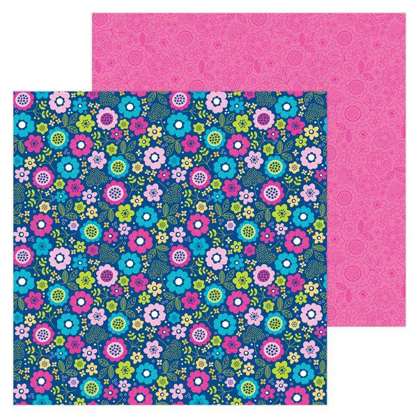 papel scrapbooking 12x12 doodlebug beautiful blooms hello