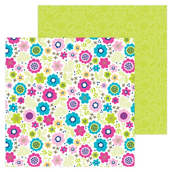 Papel scrapbooking 30x30 Hello - Lovely Doodlebug Design