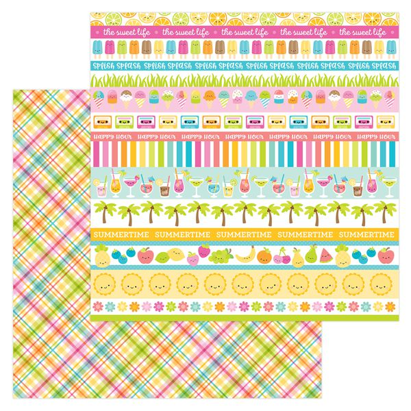 Papel Scrapbooking Punch Plaid Doodlebug