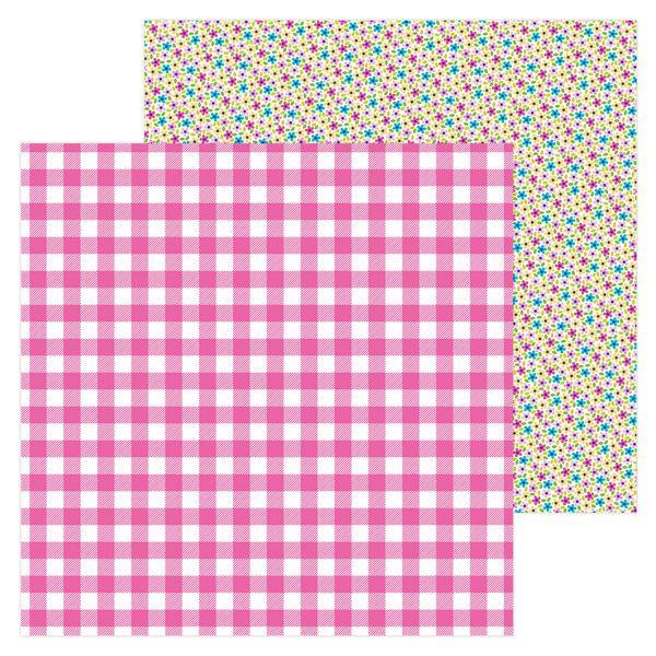 Papel scrapbooking 30x30 Hello - Ticlked pink Doodlebug Desig