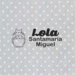 sello marcar ropa guarderia sello textil modelo totoro
