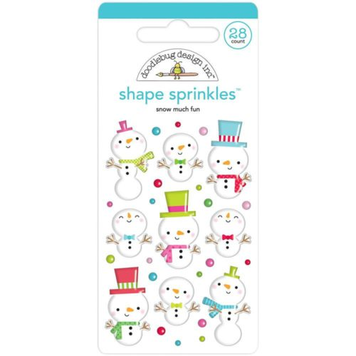 Adornos adhesivos enamel Snow Much Fun De Doodlebug Design