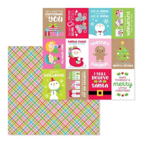 Papel para scrapbooking 30x30 Christmas jammies de Doodlebug Design