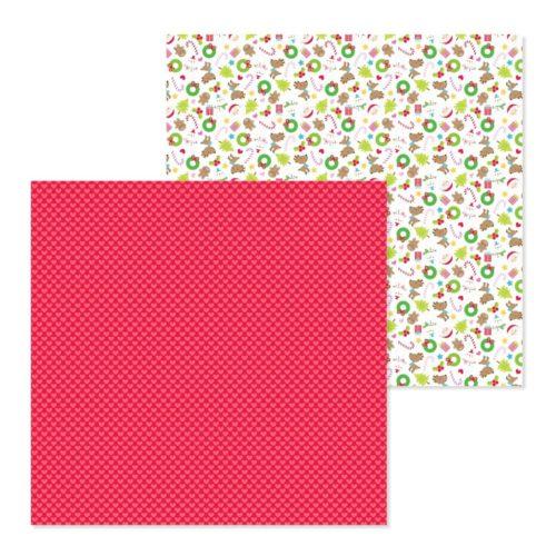 Papel para scrapbooking 30x30 Merry hearts de Doodlebug Design