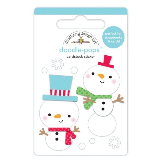 Adornos adhesivos 3D Snow Buddies De Doodlebug Design