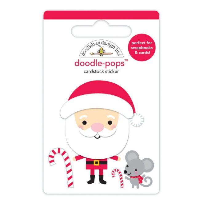 Pegatinas 3D Sweet Santa De Doodlebug Design