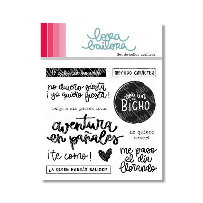 Sellos acrílicos para scrapbooking Aventuras en pañales Lora Bailora