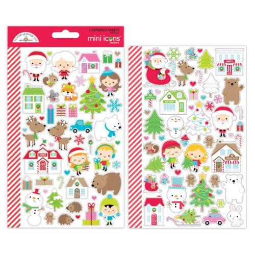 2 Hojas de stickers Christmas Town De Doodlebug Design