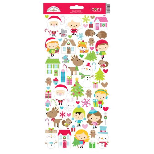 Icons Stickers Christmas Town De Doodlebug Design