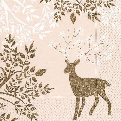 Servilleta para decoupage 33 x 33 Golden Bambi