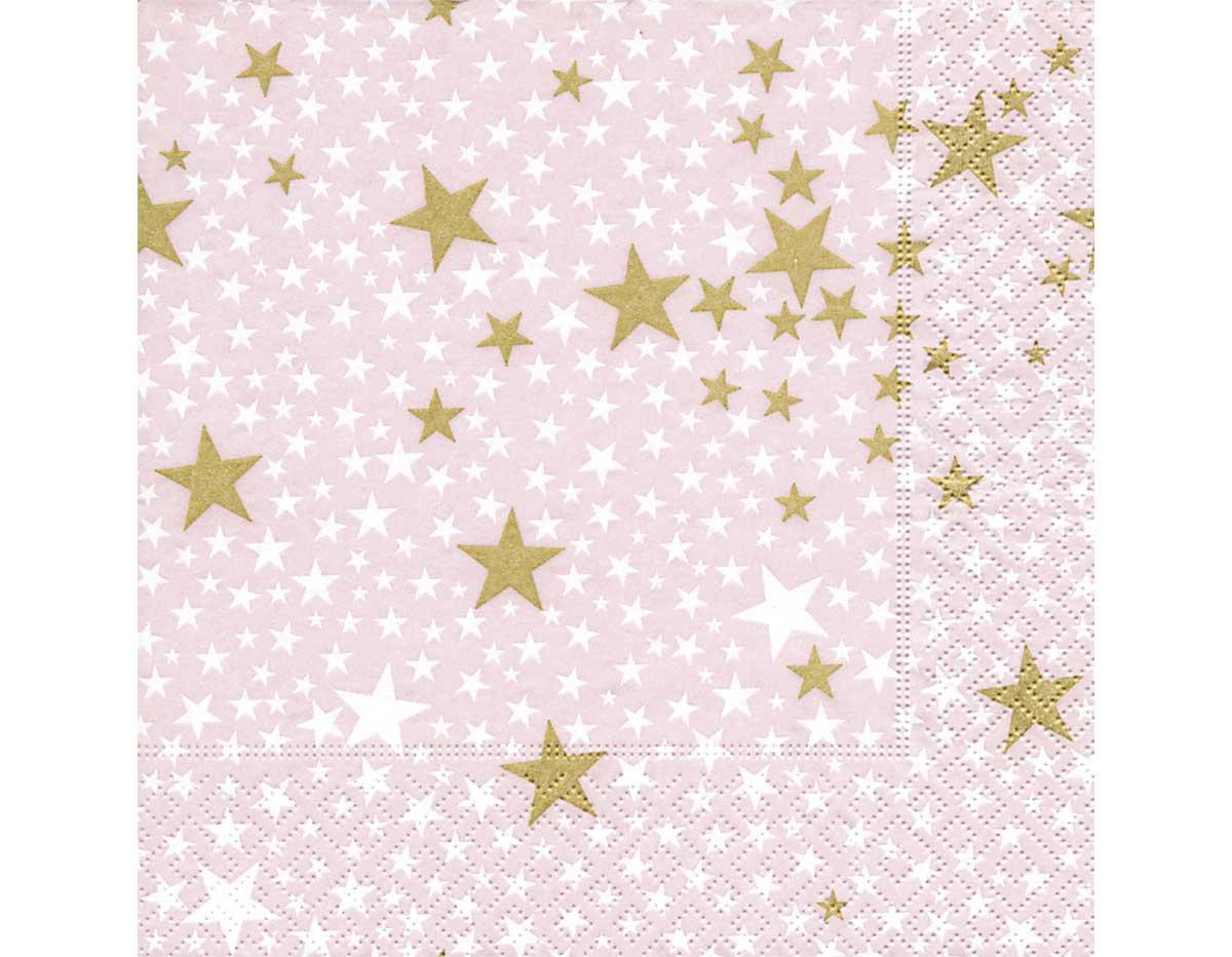 Servilleta para decoupage 33 x 33 Starlets Rosé