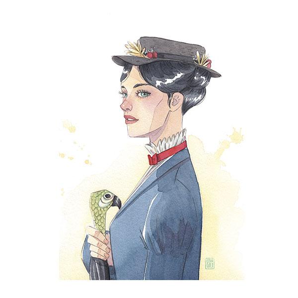Lámina Esther Gili Mary Poppins edición limitada