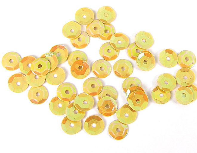 Lentejuelas 7mm Aurora boreale amarillo