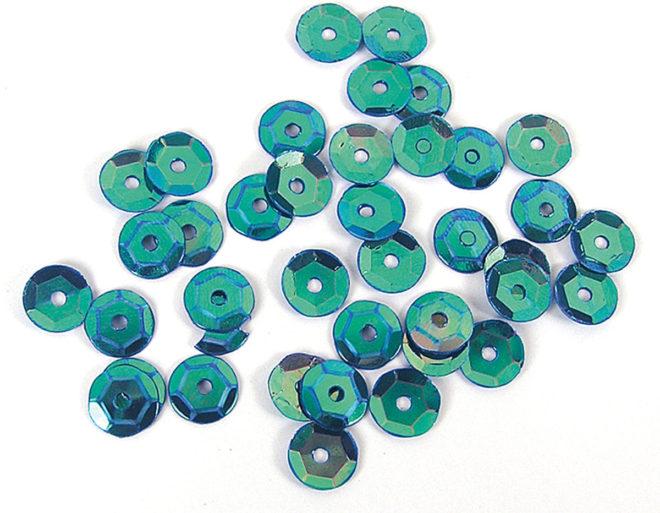 Lentejuelas 7mm Aurora boreale azul