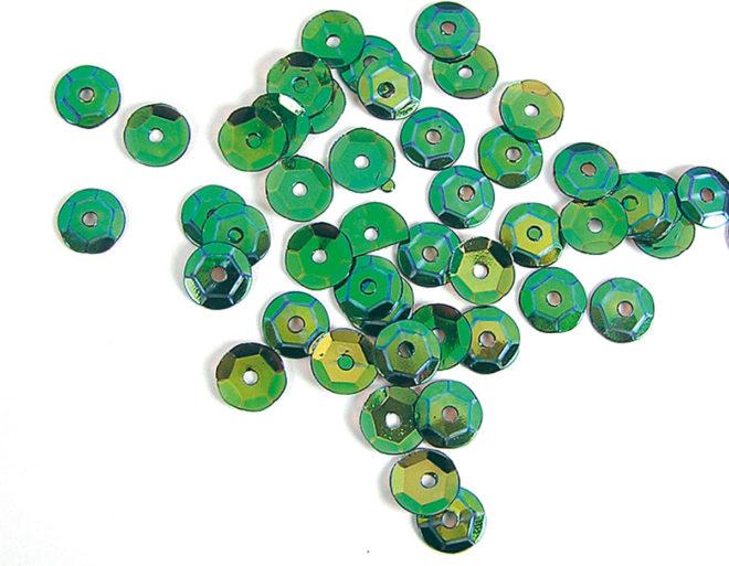 Lentejuelas 7mm Aurora boreale verde