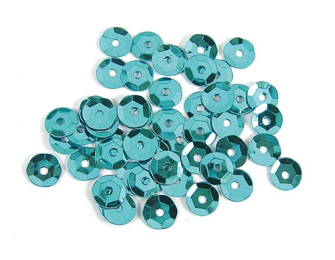 Lentejuelas 7mm plateada azul