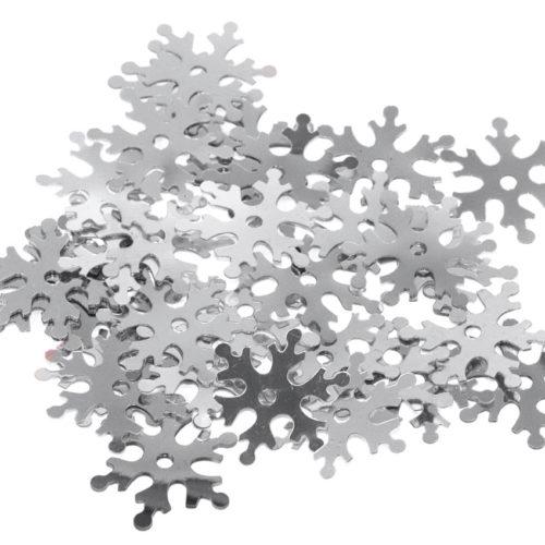 Lentejuelas 24mm plateada copos de nieve