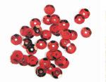 Lentejuelas 7mm plateada rojo