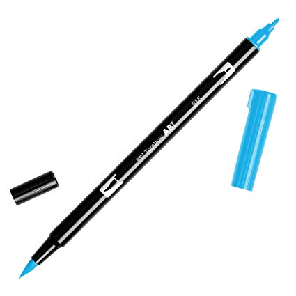 Rotulador ABT Dual Brush 515 Light Blue Tombow