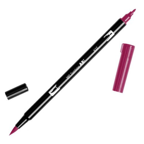 Rotulador ABT Dual Brush 837 Wine Red Tombow