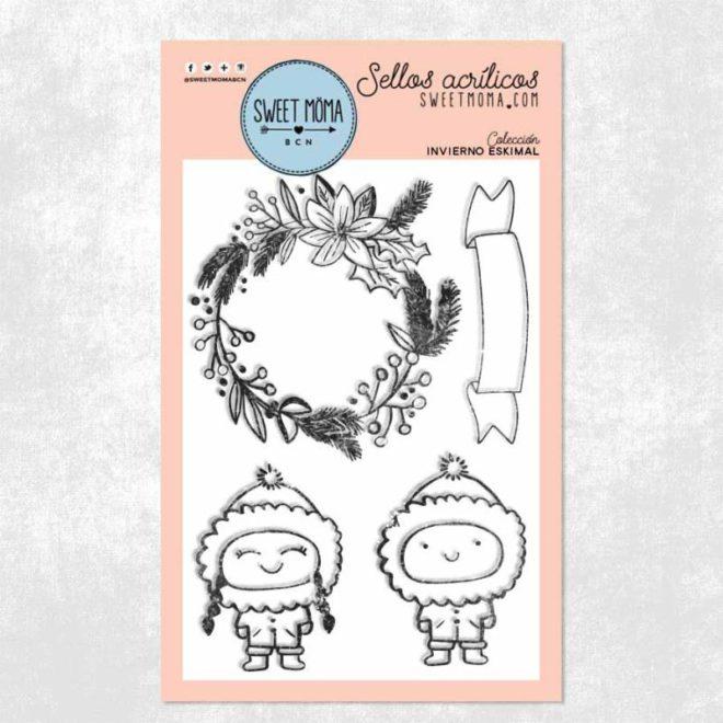 Sellos acrílicos Invierno eskimal 10 x 15 cm