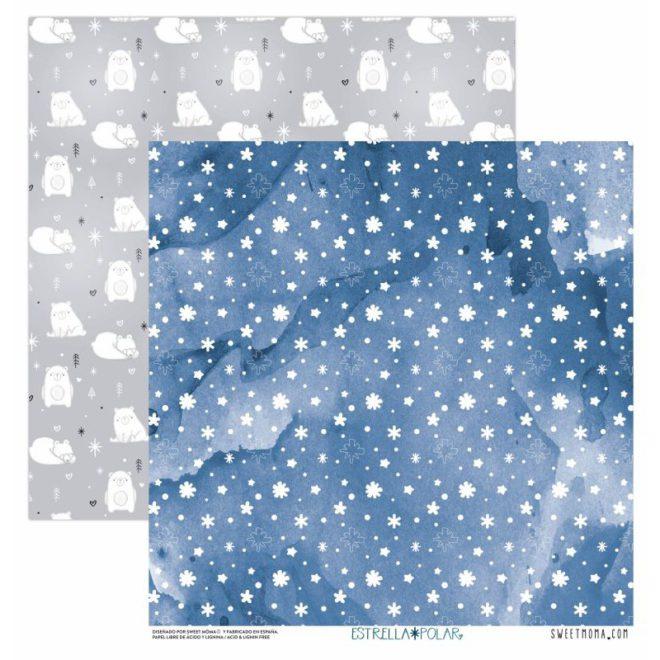 Set 12 papeles de scrapbooking estrella polar