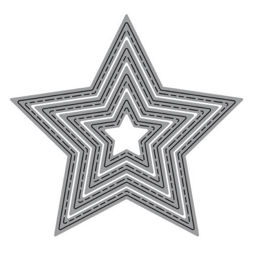 Set 4 troqueles finos ZAG estrellas
