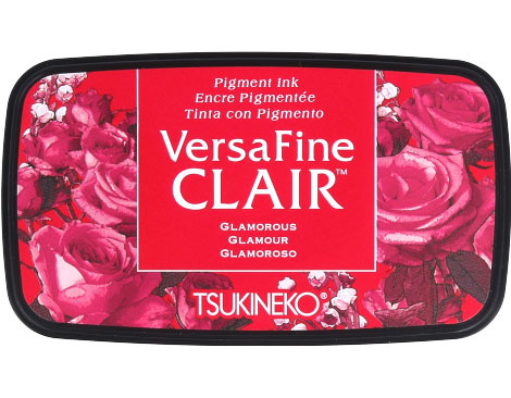 Tinta VERSAFINE CLAIR color rojo glamuroso 76x35mm