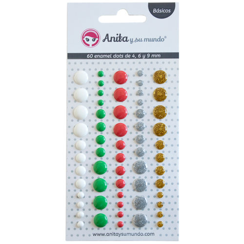 Enamel Dots de Navidad Anita y su Mundo