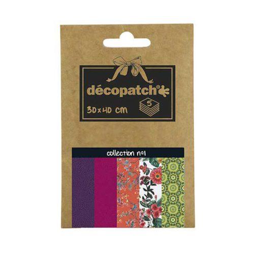 Papeles Décopatch Pocket 30x40 cm 5 hojas