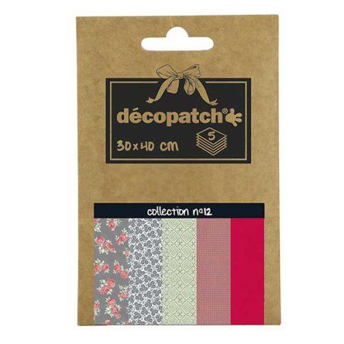 Papeles Décopatch Pocket 30x40 cm 5 hojas - Colección n°12