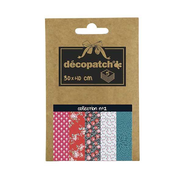 Papeles Décopatch Pocket 30x40 cm 5 hojas colección 2