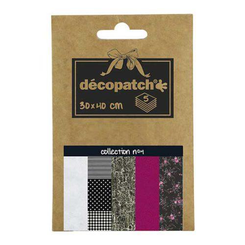 Papeles Décopatch Pocket 30x40 cm 5 hojas - Colección n°4