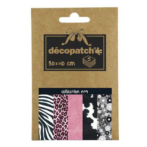 Papeles Décopatch Pocket 30x40 cm 5 hojas - Colección n°9