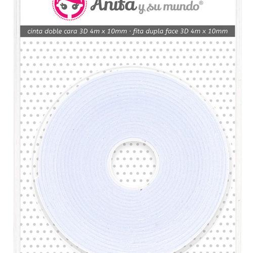 Cinta doble cara 3d 4mx10mm Anita y su mundo