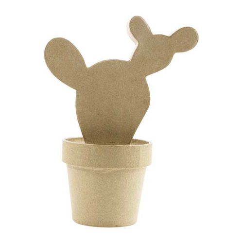 Cactus del Oeste cartón craft Décopatch para decorar
