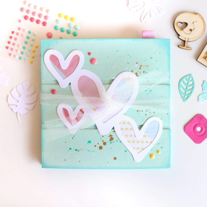 Make & Take Sitges 2019. Álbum wooden hearts. Domingo 31/3/2019 de 13 a 14h