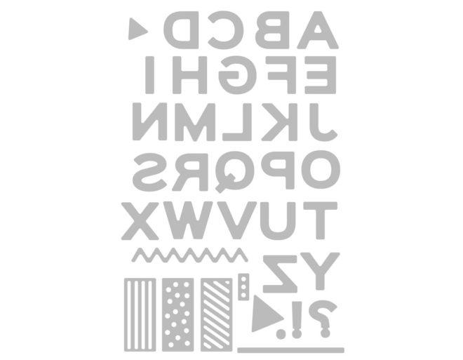 Set 37 troqueles THINLITS Pop art uppercase by Sophie Guilar