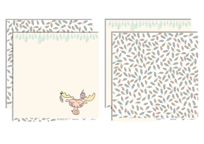 Kit 10 papeles para scrapbooking Colección Tipi de Iriri estudio