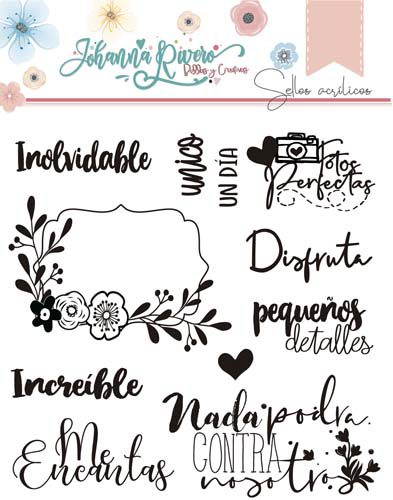Sello Acrílico Banner Johanna Rivero de Bellas y Creativas Scrapbooking